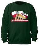 Drinking Team Flag - Adult Crew Neck Sweatshirt
