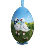 Easter Geese Hand Painted & Signed Turkey Egg Ornament