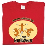 Eat Kielbasa - Adult T-Shirt
