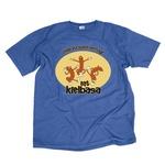 Eat Kielbasa Cotton Blue T-Shirt