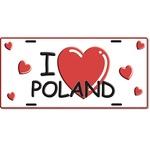 Embossed License Plate - I Love Poland