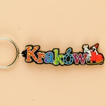 Flexible Keychain - Krakow, City Name