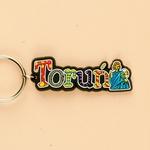Flexible Keychain - Torun, City Name