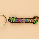 Flexible Keychain - Warsaw, City Name