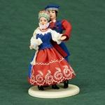 Folk Doll - Kujawy, Couple 5.25 inches