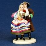 Folk Doll - Lublin, Couple 5.25 inches