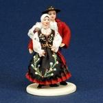 Folk Doll - Piotrkow, Couple 5.25 inches
