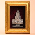 Framed Pewter Image - Palace of Culture, Warsaw