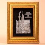 Framed Pewter Image - Royal Castle, Warsaw