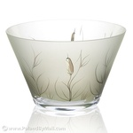 Glass Bowl - Cat-tail Series, 9 inches Wide