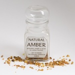 Glass Jar of Natural Amber in Granule Form, 10 grams