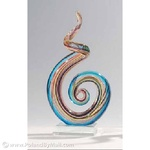 Glass Sculpture - Ribbon, 6 inches Tall