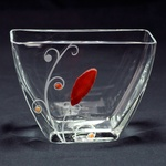 Glass Vase - Agate & Carnelian Stone Series, 5 inches Tall