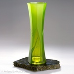 Glass Vase - Luscious Lime Series, 16 inches Tall
