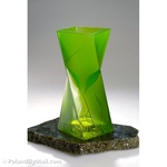 Glass Vase - Luscious Lime Series, 11 inches Tall