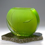 Glass Vase - Luscious Lime Series, 8 inches Tall