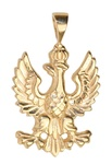Gold 14k or 925 Silver 1918 Polish White Eagle Pedant