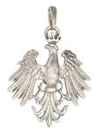 Gold 14k or 925 Silver Polish Eagle Pedant 1.25 inch