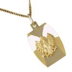 Gold 14k Pendant with a Polish White Eagle