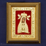 Gold Plated Icon - The Lichen Blessed Virgin Mary