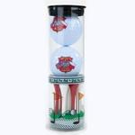 Golf Balls & Tees - Polish American Flags & Eagle Set