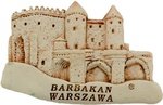 Handcrafted Marble Magnet - Warsaw's Barbican - Natural
