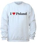 I Love Poland - Adult Crew Neck Sweatshirt