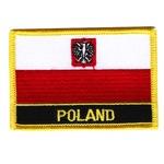 Iron-On Patch - POLAND Flag with White Eagle