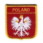 Iron-On Patch - POLAND White Eagle Shield