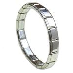Italian Charms - 18 Piece Bracelet - Polished Finish