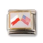 Italian Charms - Polish American Flags