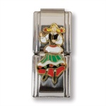 Italian Charms - Polish Folk Dancer Double Charm