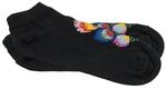 Lady's Ankle High Black Socks - Polish Folk Art (Wycinanki)