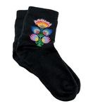 Lady's Quarter Length Black Socks -Polish Folk Art Wycinanki