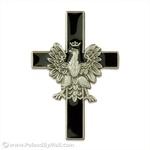Lapel Pin - Eagle Cross, Black