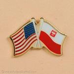 Lapel Pin - Polish American Flags