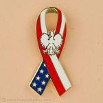 Lapel Pin - Polish American Ribbon