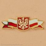 Lapel Pin - Polish Eagle on Banner