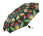 Lowicz  Black Folding Umbrella - Wycinanki