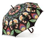 Lowicz Black Polyester Umbrella - Wycinanki