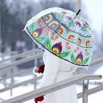 Lowicz Transparent PVC Umbrella - Wycinanki