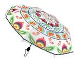 Lowicz White Folding Umbrella - Wycinanki