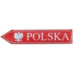 Metal Sign - Left Arrow, POLSKA