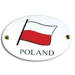 Metal Sign - Oval, POLAND Flag