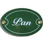 Metal Sign - Pan/Pani (Mr/Mrs) Green, Set of 2