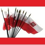 Mini Polish Flag with Eagle