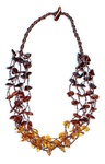 Multi String Amber Necklace