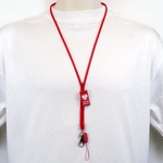 Neck Strap - POLSKA, Red Zipper