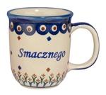 New Polish Pottery 12oz Mug - SMACZNEGO, BON APPETIT
