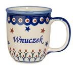 New Polish Pottery 12oz Mug - WNUCZEK, GRANDSON